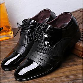 Men's Comfort Shoes PU(Polyurethane) Spring / Fall British Oxfords Black / Brown / EU40