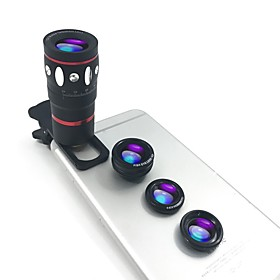 Macro 10X 0.67X Gran angular Lente de la cámara Lens for Smartphone Xiaomi Huawei Samsung iPhone