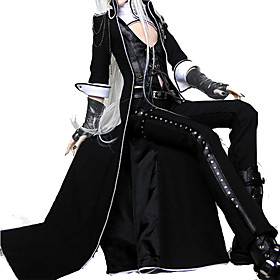 Gothic Lolita Dress / Punk Lolita Dress Punk Women's Outfits Cosplay Black Poet Sleeve Long Sleeve Ankle Length 1805588