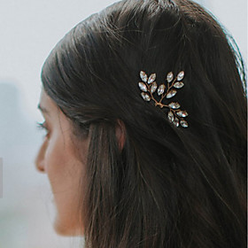 Pearl / Crystal Headwear / Hair Clip / Hair Pin with Floral 1pc Wedding / Special Occasion / Party / Evening Headpiece