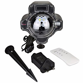 KWB 1 set LED Floodlight Waterproof / Dimmable / Remote Controlled Outdoor Lighting / Halloween / Thanksgiving 4 LED Beads