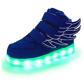 Boys' Shoes Leather Spring / Fall Comfort / Novelty / Light Up Shoes Sneakers Magic Tape / LED for Red / Green / Blue