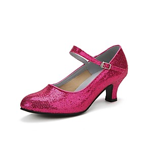 Women's Dance Shoes Sparkling Glitter / Paillette Modern Shoes/Character Shoes Sparkling Glitter / Buckle Heel Cuban Heel Red / Blue / Pink / Professional / EU Category:Modern Shoes; Upper Materials:Paillette,Sparkling Glitter; Embellishment:Buckle,Sparkling Glitter; Lining Material:Synthetic; Heel Type:Cuban Heel; Actual Heel Height:1.97; Gender:Women's; Range:EU41; Style:Heel; Outsole Materials:Rubber; Occasion:Professional; Listing Date:10/28/2017; Production mode:Self-produce; Foot Length:; SizeChart1_ID:2:397679; Size chart date source:Provided by Supplier.; Base Categories:Dance Shoes,Shoes,Apparel  Accessories; Popular Country:Germany