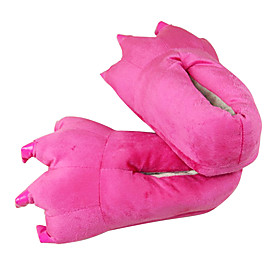 Kigurumi Pajamas Slippers Dinosaur Costume Onesie Pajamas Pink Polyester Cotton Cosplay For Adults' Animal Sleepwear Festival Cute Paw Free Size 1517581