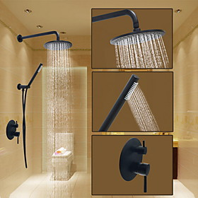 Sprinkle Shower Faucet - Round Oil-rubbed Bronze Shower System Ceramic Valve / Brass Bath Shower Mixer Taps