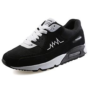 Men's PU(Polyurethane) Spring / Fall Comfort Athletic Shoes Walking Shoes Black / Gray / Black / White