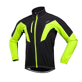 Arsuxeo Men's Cycling Jacket Bike Winter Jacket Windproof Winter Red / Green / Blue Road Cycling Relaxed Fit Bike Wear / Stretchy