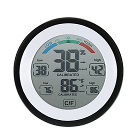 High Precision Mini Electronic Thermometer Hygrometer Household Creative Indoor Wall Mounted Psychrograph