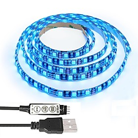 Black PCB TV BackLight KitComputer Case 5050 RGB USB LED Strip Light with 5v USB Cable And Mini Controller For TV/PC/Laptop Background Lighting