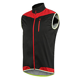 Arsuxeo Cycling Jacket Men's Bike Vest/Gilet Bike Wear Windproof Breathability Lightweight Exercise  Fitness Football/Soccer Cycling / 6247141