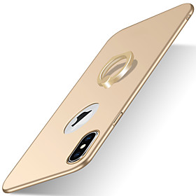 Case For Apple iPhone X iPhone 8 iPhone 8 Plus iPhone 6 iPhone 7 Plus iPhone 7 with Stand Ring Holder Frosted Back Cover Solid Color Hard