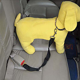 Dog Car Seat Harness / Safety Harness Adjustable / Retractable / Safety Solid Colored Nylon Red / Blue / Pink
