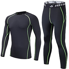 Men's Ski Base Layer Quick Dry Breathability Lightweight Sweat-Wicking Outdoor Exercise Multisport Back Country Elastane Polyster 6386953