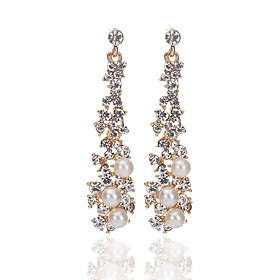 Women's Drop Earrings Imitation Pearl Imitation Diamond Earrings Classic Fashion Jewelry Gold For Engagement Ceremony