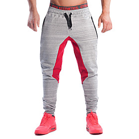 Men's Running Pants Breathable Comfortable Pants / Trousers Exercise  Fitness Running Cotton Chinlon Black Grey M L XL XXL 5222401