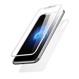 Screen Protector Apple for iPhone X Tempered Glass 2 pcs Front  Back Protector 3D Curved edge Anti-Fingerprint Scratch Proof Ultra Thin