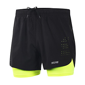 Arsuxeo Men's Running Shorts Quick Dry Lightweight Materials Reflective Strips Reduces Chafing Shorts Bottoms Exercise  Fitness Leisure 5940054
