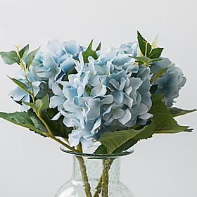 1 Branch Silk Hydrangeas Tabletop Flower Artificial Flowers