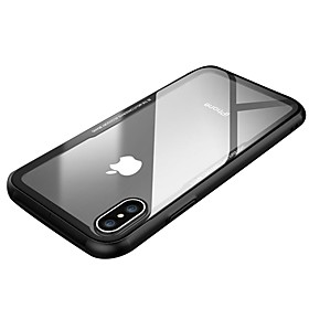 Case For Apple iPhone X iPhone X Shockproof Ultra-thin Back Cover Solid Color Transparent Hard Tempered Glass for iPhone X