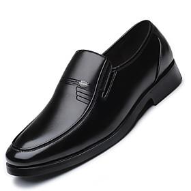 Men's Formal Shoes Microfiber Spring / Summer Loafers  Slip-Ons Black / Party  Evening