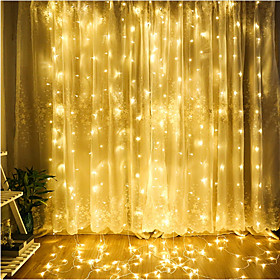 4m String Lights 300 LEDs Dip Led Warm White / Cold White / Blue Linkable 220 240 V 1pc / IP65