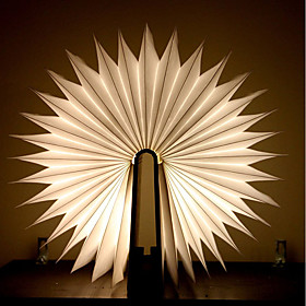 1pc Book LED Night Light Warm White Batteries Powered Foldable Rechargeable Creative Novelty Decorative Light