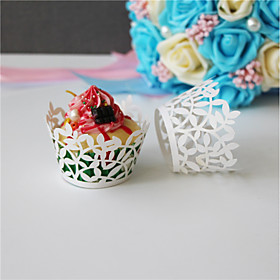 50pcs/lot Lace Paper Wrap Cupcake Wrappers Baking Cup Little Vine Lace Laser Wedding Favors Kids Birthday Party Decoration 6361016
