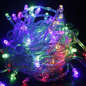 10m String Lights 100 LEDs Warm White RGB White Green Blue