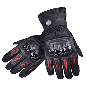 PRO-BIKER Sporty Full Finger Unisex Motorcycle Gloves Cycling Keep Warm Anti-Slip Rain-Proof Wearable 6416062