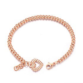 Women's Chain Bracelet - Titanium Steel, Rose Gold Plated Bracelet Silver / ..