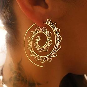 Women's Hoop Earrings - Wave Ladies Vintage