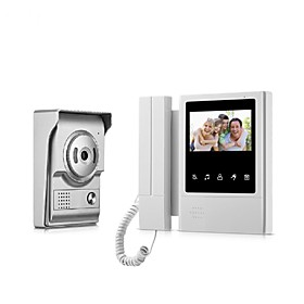9 Inch Color Recording Monitor Video Door Phone Intercom System with Waterproof Cover Outdoor CMOS Camera