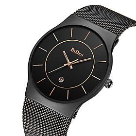 Biden Men's Quartz Wrist Watch Japanese Calendar / Date / Day / Water Resistant / Water Proof Stainless Steel Band Luxury / Vintage /