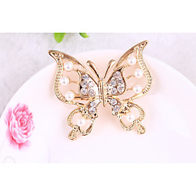 Women's Brooches Butterfly Animal Brooch Jewelry Gold Silver For Gift Daily