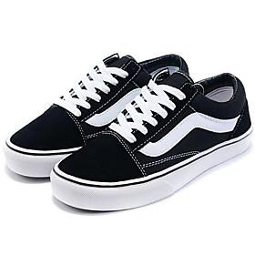 Women's Canvas Spring / Fall Comfort Sneakers Flat Heel Black / EU39