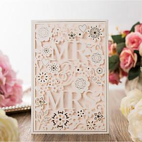 Carte plate Invitations de mariage 20pcs - Cartes d'invitation Style artistique Style des mariés Fleur Style floral Papier gaufré Motif