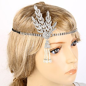 The Great Gatsby Flapper Headband 1920s Black / Silver / Golden Chrome Cosplay Accessories Masquerade 6419936