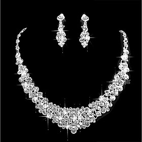 Women's Cubic Zirconia Jewelry Set - Simple Include Silver For Wedding Party
