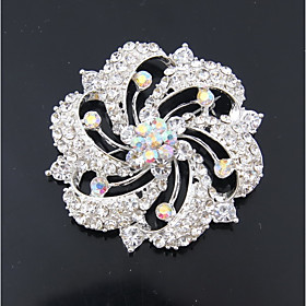 Women's Jewelry Set Brooches Silver Plated Simple Fashion Wedding Evening Pa..
