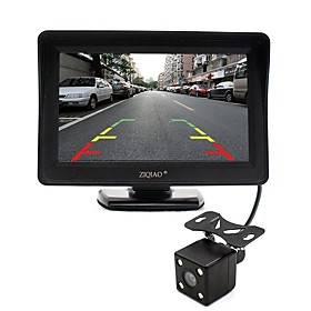 ZIQIAO 4.3 Inch Monitor and HD Car Rear View Camera