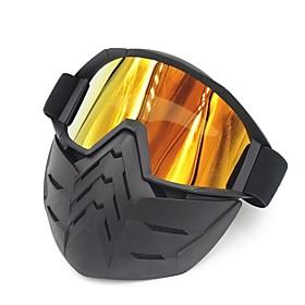 Ski Bike Motorcycle Face Mask Goggles Motocross Eyewear Motorbike Open Face Detachable Goggle Helmets Vintage Glasses 6416258