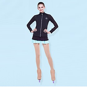 Over The Boot Figure Skating Tights Women's Girls' Ice Skating Leggings Khaki Spandex High Elasticity Competition Skating Wear Solid Colored Figure Skating