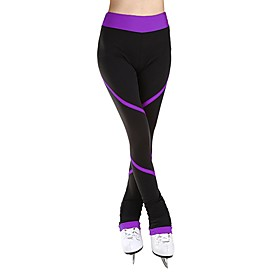 Figure Skating Pants Women's / Girls' Ice Skating Pants / Trousers Blue / Pink / Violet Spandex Stretchy Training / Competition Skating Wear Solid Colored Long