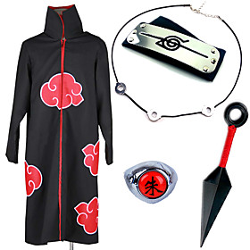 Inspired by Naruto Itachi Uchiha Anime Cosplay Costumes Cosplay Suits Cosplay Accessories Print Necklace Cloak More Accessories Weapon 4778721