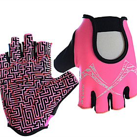Sports Gloves Bike Gloves / Cycling Gloves Sports Gloves Wearable Breathable Anti-Shock Skidproof Fingerless Gloves Nylon Road Cycling