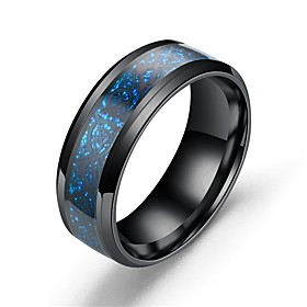 Men's Band Ring Stainless Steel Dragon Asian Vintage Ring Jewelry Light Blue For Gift Daily 7 8 9 10 11