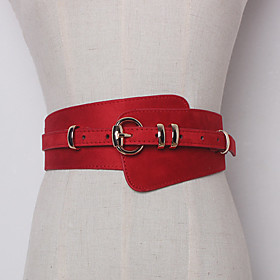 Women's Active Basic Leather Waist Belt - Solid Colored 6504707