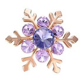 Women's AAA Cubic Zirconia Brooches - Gold Plated Snowflake Korean, Fashion ..