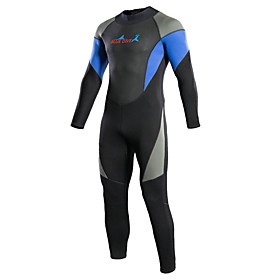 Bluedive Men's 3mm Full Wetsuit Thermal / Warm Quick Dry Full Body Compression YKK Zipper Nylon Neoprene Diving Suit Long Sleeves Diving 5544725