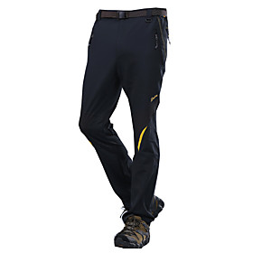 Men's Hiking Pants Outdoor Quick Dry Windproof Wearable Breathable Lightweight Materials Fleece Tights Bottoms Exercise  Fitness 5314074